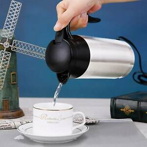 12V 750ml Stainless Steel Electric In-Car Kettle Car Travel Water Heating new UK