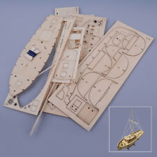 Holzarbeiten Schiff Segelboot Modell 1:50 Maßstab Spielzeug Hause Dekor