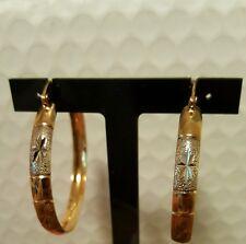 """Large Gold Plated Hoop Earrings ~ 1.75"""""""