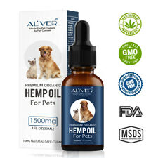 Premium Organic 100% Natural Hemp Seed Oil For Dogs Cats Rabbits Pets - 30ml