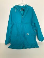 Vintage helly hansen Teal rain coat large Men's Green Blue Jacket