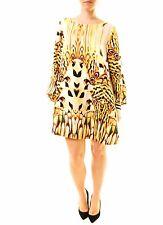 One Teaspoon Women's Dream Tiger Dress Size XXS Yellow RRP$180 BCF611