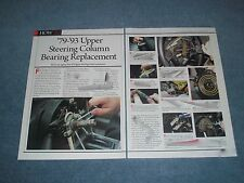 1979-'93 Ford Mustang Upper Steering Column Replacement How-To Article