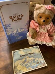 Robert Raikes-Penelope Carved Bear-Numbered/Certificate Vintage 1986