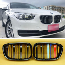 FOR BMW F07 550i GT GRAN TURISM BLACK+///M-COLOR M-LOOK FRONT HOOD GRILLE GRILL