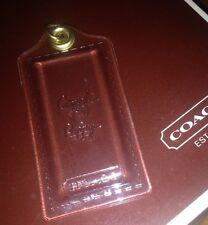 Coach Poppy Clear Large Hanging Tag Hangtag Fob With Gold Ring •RARE• EUC