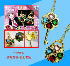 Anime Shugo Chara Jewelry Couples Necklace Charm Pendant Cosplay Gifts 2pcs