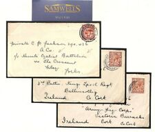 MS1846 1917 GB MILITARY WW1 Group Covers{3} NB *Hunts Cyclist Battalion* CYCLING