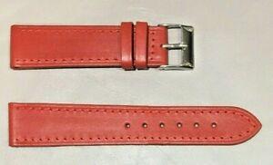 Pulsera Correa de Reloj Piel Legítima Cuero 20 mm Rojo   Watchband 240