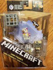 Minecraft Wood Series 10 Spawning Blaze, Llama, Zombie Husk 3-Pack Mini Figures