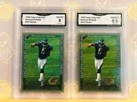 1999 2x Topps Collection Donovan McNabb 341 Rookie 8-8.5 MINT+ GMA Graded LOT