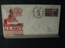 USS BRINKLEY BASS DD-887 Naval Cover 1946 C. STEPHEN ANDERSON Cachet