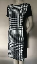 Marccain Black White,Panel Side, Pencil Dress, size N4,UK14