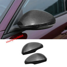 Fit For Alfa Romeo Giulia 2017-19 Real Carbon Fiber Rear Mirror View Cover Trim