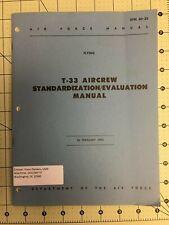 T-33, Usaf, Aircrew Standardization/Evaluatio n Guideline 2/62