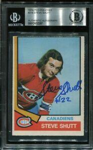 HOF STEVE SHUTT signed autographed 1974-75 OPC ROOKIE CARD RC BECKETT (BAS)