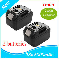 2X 18V Batterie 6000mah pour Makita BL1830 BL1840 LXT Lithium-ion (Li-ion) 6.0Ah