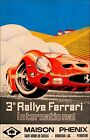 Ferrari International Rallye France Racing Vintage Poster Print Auto Racing