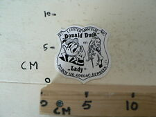 STICKER,DECAL DONALD DUCK EN LADY LOK. EERBEEK LUISTER AMATEUR 27MC  ZENDAMATEUR