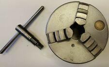 Mandrino autocentrante per tornio SOGIMUT usato 3 griffe diametro 125 mm chiave