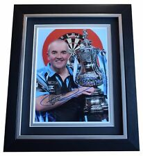 Phil Taylor SIGNED 10x8 FRAMED Photo Autograph Display Darts Sport COA AFTAL