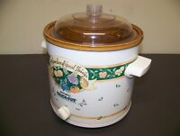 Rival Crock Pot Slow Cooker Stoneware 3100/2 A Garden of Good Things USA  Made