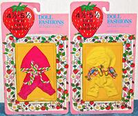 "Vintage Doll Fashion 4 1/2""-5 1/2"" FOR MILK-SHAKE Strawberry Shortcake NEW LOT 2"