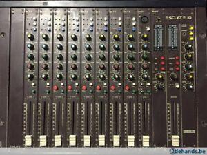 ecler sclat 10 mesa de mezclas profecional alta calidad de sonido