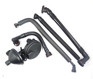 New Set 5 PCV Crankcase Vent Valve Breather Hose Kit for BMW E46 325i 330i 325Xi