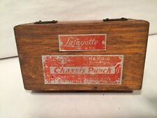 Vintage Lafayette #110-G Shark Type Chassis Punch