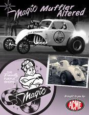 MAGIC MUFFLER PURPLE ALTERED DRAG CAR ACME 1:18 SCALE DIECAST METAL MODEL CAR