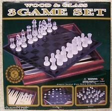 Chess Checkers Backgammon 3 in 1 game box NEW