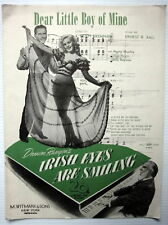 Film Sheet Music DEAR LITLE BOY OF MINE Irish EYES ARE SMILING M. Whitmark Publ.