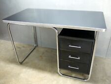 Royal Metal Art Deco Machine Age Streamline Chrome Bauhaus Weber Rohde Era Desk