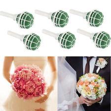 6pcs Wedding Foam Flowers Floral Holder Bouquet Bridal Posy Oasis Wet Decoration