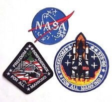 """Armageddon Movie  3"""" Mission Patch Set of 3- FREE S&H (MIPA-242)"""