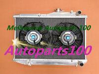 """For TOYOTA COROLLA RADIATOR&10"""" Fans AE86 4AGE GTS Manual 1983-1987 ALUMINUM"""