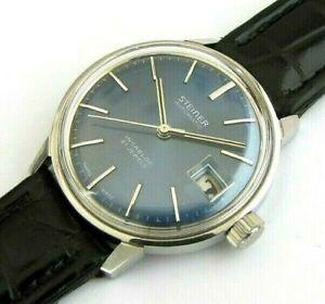 STEINER wristwatch with PIQUEREZ case with ETA 2783 movement NOS, Swiss Made