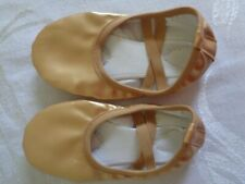 Toddler Girl & Boy Ballet Dance Split-Sole Gold Slipper Shoes size 26 US 9.5