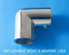 "Boat Hand Rail Fittings 90 Degree Elbow -1""  Tubing 316 Marine Stainless Steel"