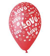 "Balloon ""Love"" Print 30cm/12"". Pack of 10"