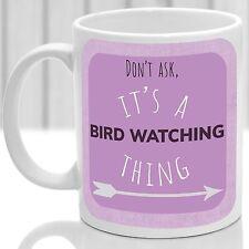 Bird Watching thing mug, Ideal for any Bird Watcher (Pink)