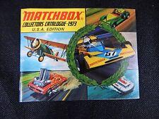 VINTAGE 1973 COLLECTORS MATCHBOX POCKET CATALOG U.S.A EDITION