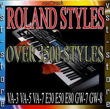 ROLAND STYLES for VA-3 VA-5 VA-7 E30 E50 E80 GW-7 GW-8 OVER 3500 STYLES
