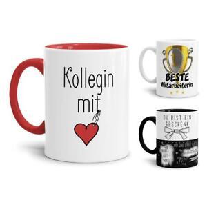 Spruch-Tassen für die besten Kollegen und Mitarbeiter / Arbeit / Job / Lustig