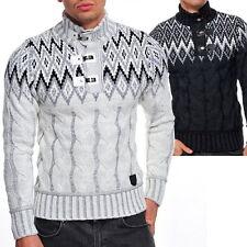 Unifarbene Herren-Pullover & -Strickware mit Stehkragen aus Wolle