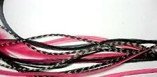 5 Feather Hair Extension Pink & Black Mix 6-11 Feathers for Hair Extension Inclu
