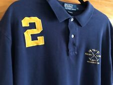 Ralph Lauren Blue Label Rugby Embroidered Polo Shirt Men's Size XL