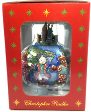 Christopher Radko Teddies Around The World Christmas Tree Ornament 02-7267 NIOB
