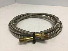 "Stainless Steel Braided Hose, Length: 96"", Fittings: 1/4"" NPT, OD: 0.38"""